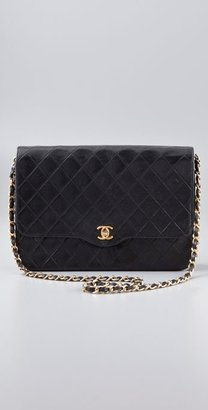 Wgaca Vintage Vintage Chanel Black Quilted Bag - Chain Strap Bag