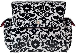 Mother Ship in Black Bouquet - Diaper Bags