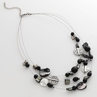 Sonoma life + style silver-tone beaded illusion necklace - Beaded Necklaces