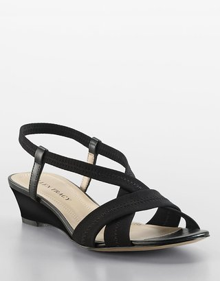 Jett Stretch Tricot Slingback Wedge Sandals - Lord &amp; Taylor