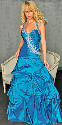 Dark Teal Ball Gowns from Night Moves by Allure - Princess Dresses