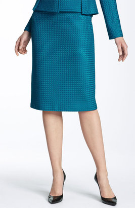 St. John Collection Matelass Knit Pencil Skirt - St. John
