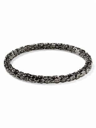 Kenneth Jay Lane Gunmetal Chain Bangle - Bracelets