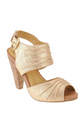 Seychelles Wrap Peeptoe Heel - Gold Heels
