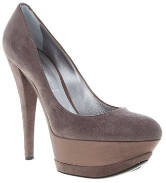 CASADEI - Suede platform pumps - Hidden Platform Pumps
