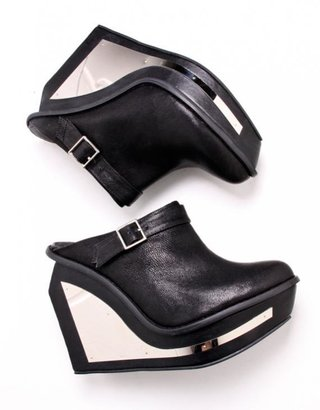 Jeffrey Campbell Black Xmas Mule With Platform - Chic and Easy Clogs