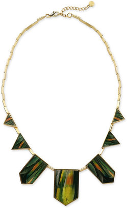 House of Harlow 1960 Feather Station Necklace -  Bohemian Jewelry