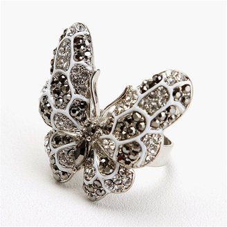Ccc Rhinestone Butterfly Ring - Butterfly Ring