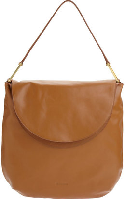 Jil Sander Flat Flap Shoulder Bag - Camel - Shoulder Bags