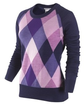Nike Women's Argyle Golf Sweater - Clothes