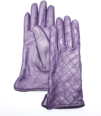 Searle, Diamond quilt cashmere lined glove - Searle