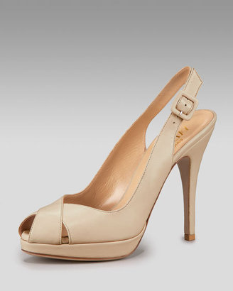 Valentino Crisscross Slingback Pump - Heels