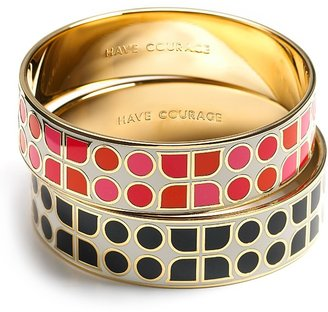 kate spade new york pink &quot;Have Courage 2&quot; Idiom Bangle - Kate Spade Bangles