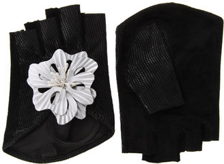 ASOS Leather Premium Flower Cut Out Gloves - Lovely Leather Gloves 