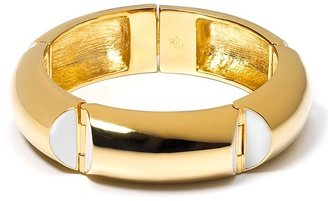 Lauren by Ralph Lauren &quot;Port De Gustavia&quot; Large Bangle Bracelet with White Enamel - Lauren Ralph Lauren