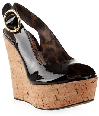 DOLCE & GABBANA - Patent cork wedge shoes - Heels
