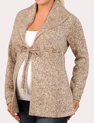 Motherhood Long Sleeve Shawl Collar Maternity Cardigan - Pregnant Style