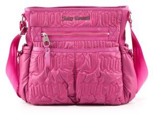 Nylon Crossbody Tote, Magenta - Diaper Bags