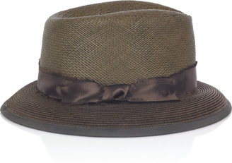 Albertus Swanepoel Mocha Latte straw fedora - Summer&#39;s Best Fedora Hats