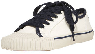 Tory Burch Lace-Up Canvas Sneaker - Canvas Shoes