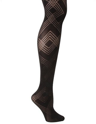 Me Moi Geometric Pattern Tights - Me Moi