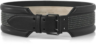Alexander McQueen Punk studded leather belt - Beautifully Bold Belts