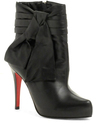 Faith Sabom Tie Detail Ankle Boot - Paperbag Booties
