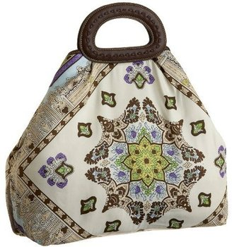 ECHO Paisley Print Handheld Tote - Printed Leather Handbags