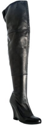 Miu Miu black nappa stretch over the knee boots - Chic Over the Knee Boots