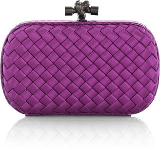 Bottega Veneta The Knot satin clutch - Handbags