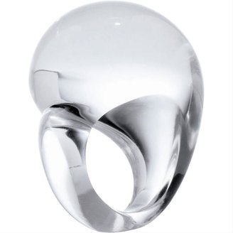 Clear Asymmetric Dome Ring by Patricia von Musulin - Clearly Amazing