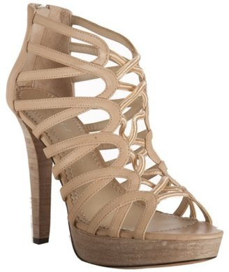 Jean-Michel Cazabat nude leather &#39;Shay&#39; platform sandals - Heels