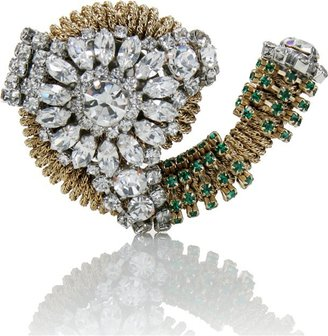 Vionnet Crystal Brooch - Brooches