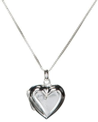 Sterling Silver Mother-Daughter Heart Locket - Sterling Silver Heart Necklaces