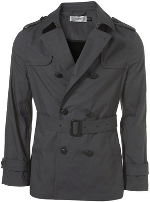Charcoal Cotton Trench Coat - Dress Like Robert Pattinson