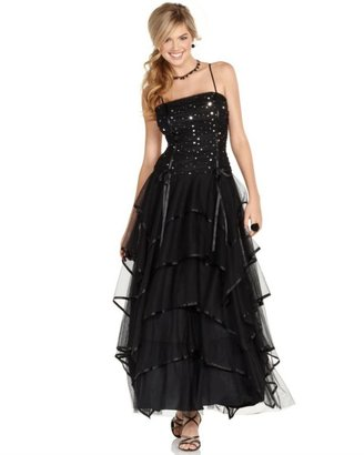 Blondie Nites Prom Dress, Tiered Gown - Clothes