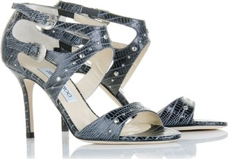 Jimmy Choo Lizard Print Sandals - Evening Sandals