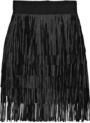 Giambattista Valli Fringed leather mini skirt - Fabulous Fringe