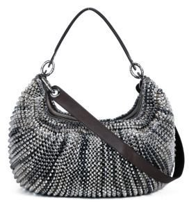 Stephanie Medium Bag in Silver Metallic Leather - Metallic Purses