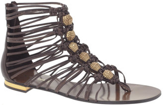 Luxury Rebel Tora Bead &amp; Woven Flat Gladiator Sandal - Summer&#39;s Hottest Gladiator Sandals