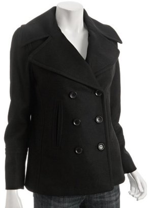 MICHAEL Michael Kors black wool blend double breasted peacoat - The Jackie O Jacket
