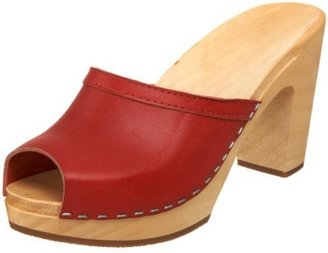 swedish hasbeens Women&#39;s Grease Sky High Mule - Chic and Easy Clogs
