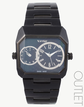 EVISU Double Dial Watch - Black Dial Watches for Men
