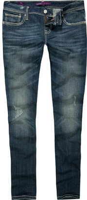 VIGOSS Contrast Stitch Womens Skinny Jeans - Dress Like Cassadee Pope