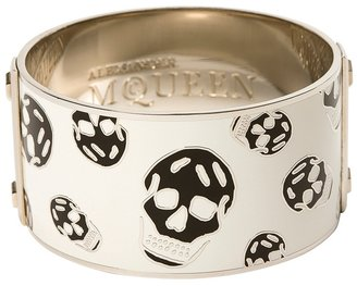 White Enamel Skull Bangle - Stellar Skull Jewels 