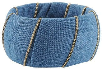 Chain Wrap Denim Bangle - Denim Trend - Spring 2010