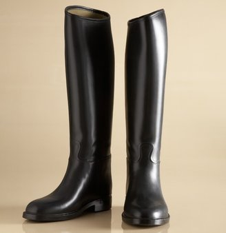 e3b8cce9fd16 ... a great alternative to the Tory Burch version. These rubber riding boots  retail for  129 and give your rainy day look a little more polish.
