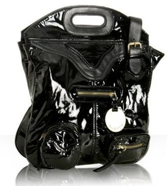 Gustto black patent leather 'Palo' tote - Tote Bags