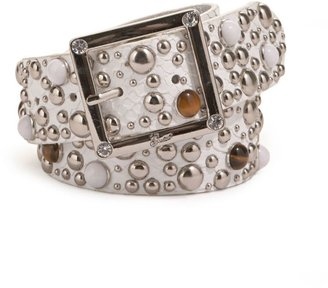Guess python-embossed belt - Studded Belt
