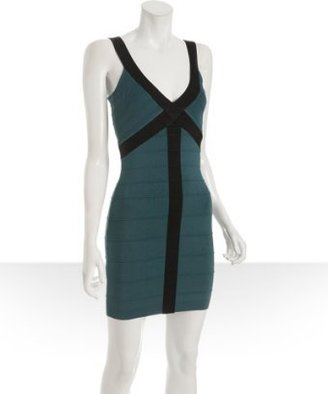 BCBGeneration forest stretch v-neck bandage dress - Bodacious Bandage Dresses